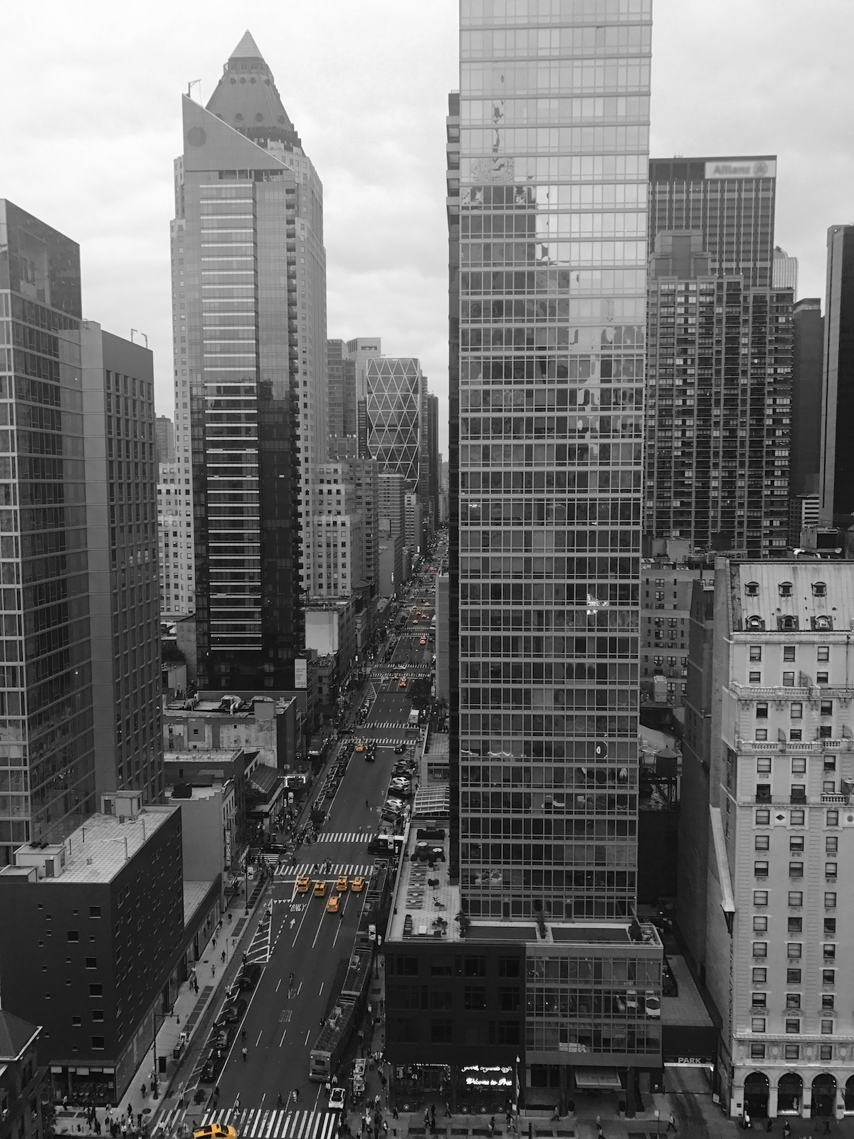 hotel room view of times square
