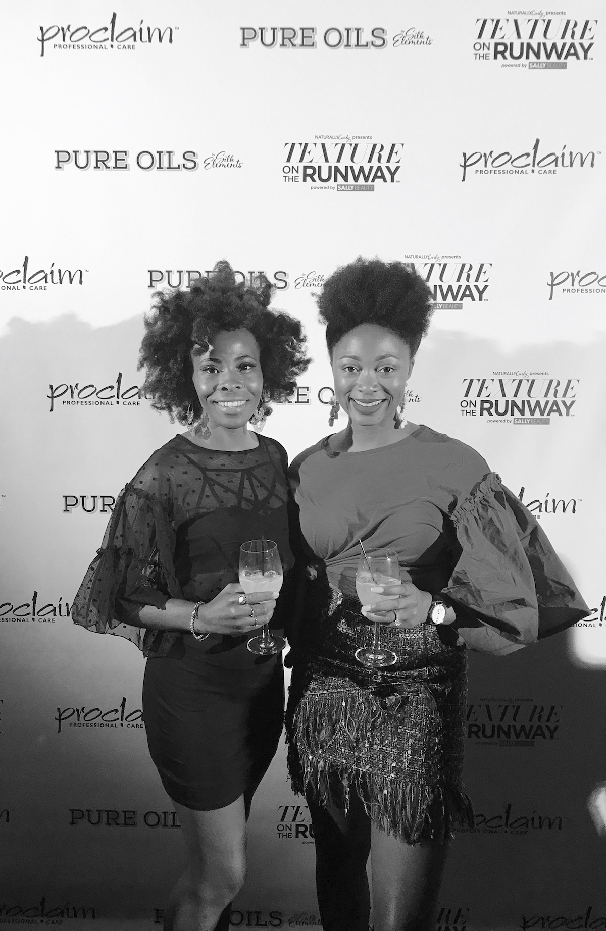 with the beauty beau at texture on the runway