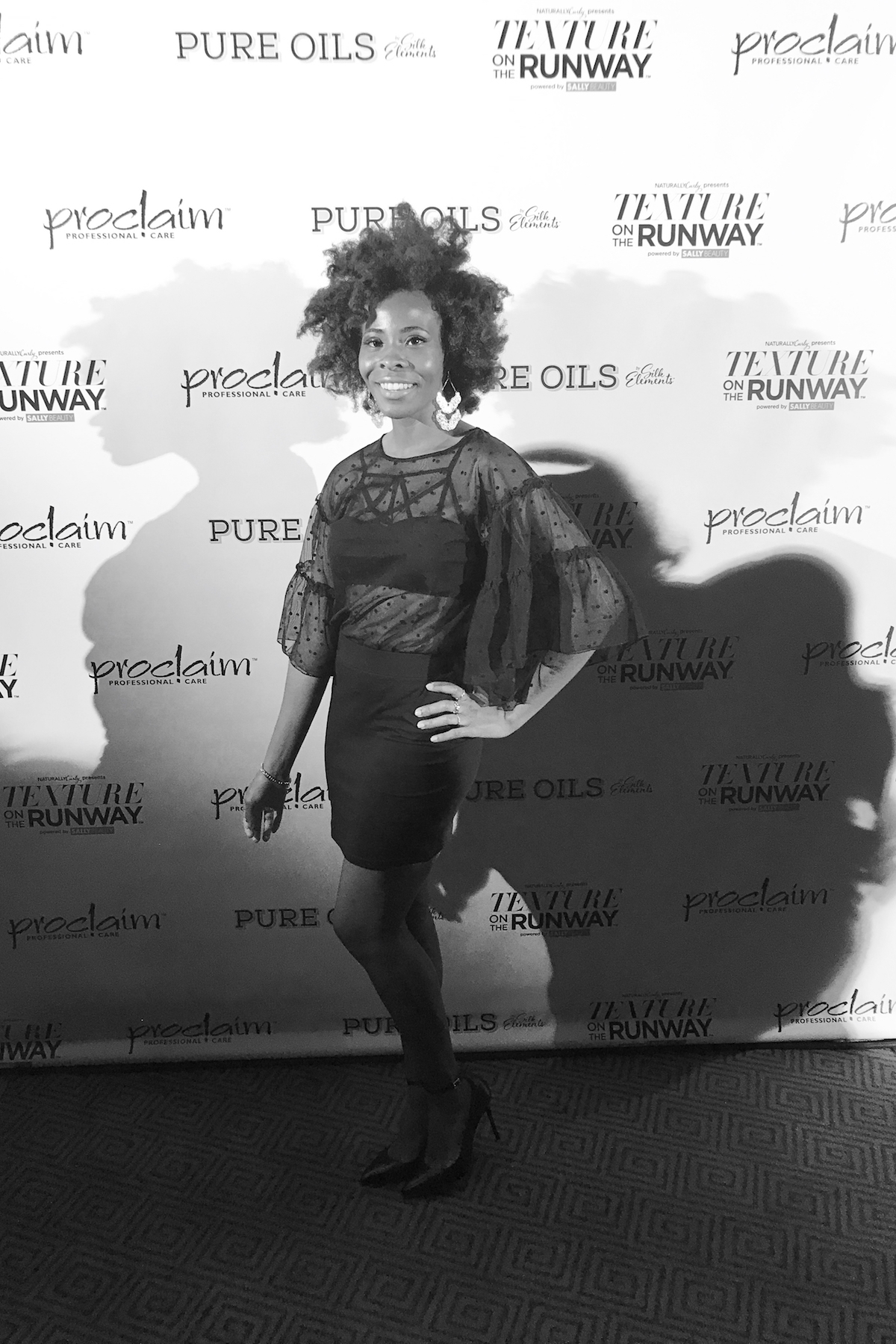 red carpet style at texture on the runway