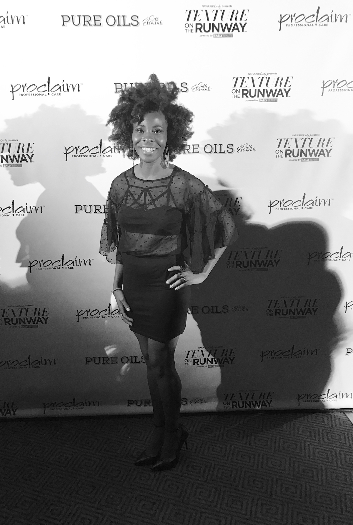 at texture on the runway