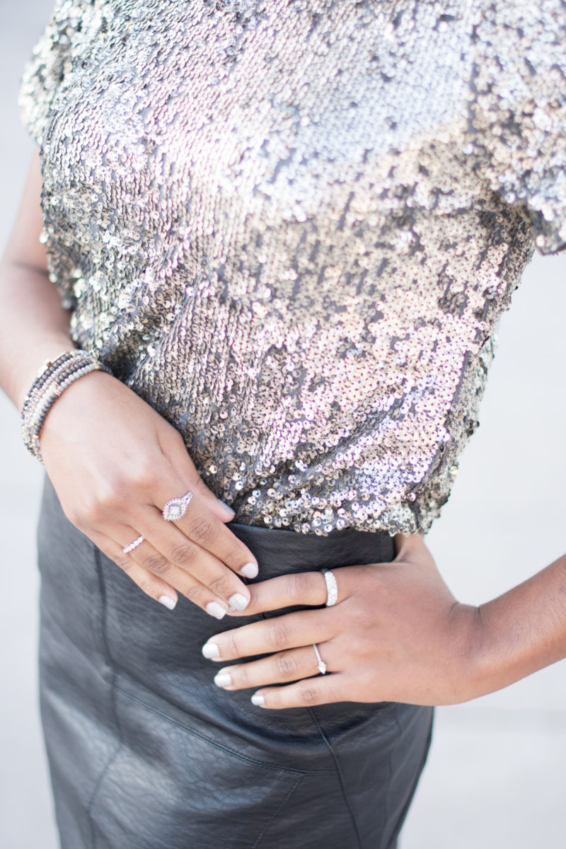 New Year Eve Party Style: Silver Sequin Tee